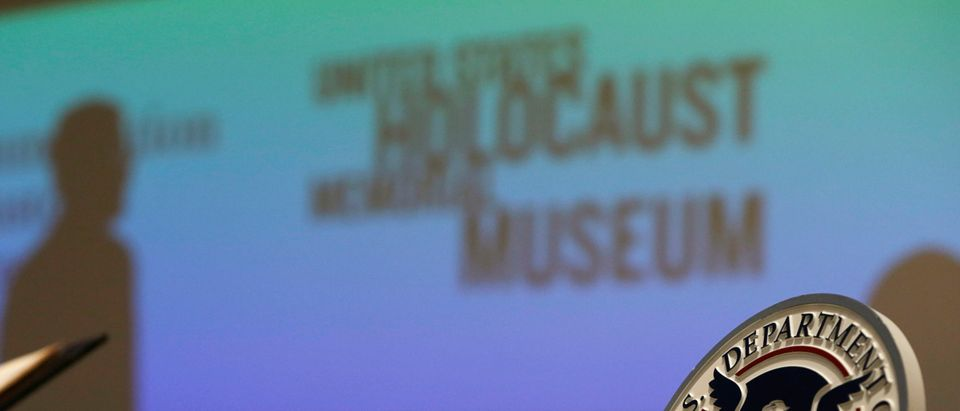 The long-lost diary of Alfred Rosenberg, a top aide to Adolf Hitler, is displayed at the Holocaust Museum in Washington