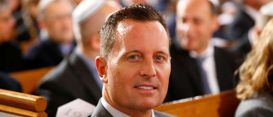 U.S. ambassador to Germany Richard Grenell arrives for a ceremony marking the 80th anniversary of Kristallnacht, also known as the Night of Broken Glass, at Rykestrasse Synagogue, in Berlin