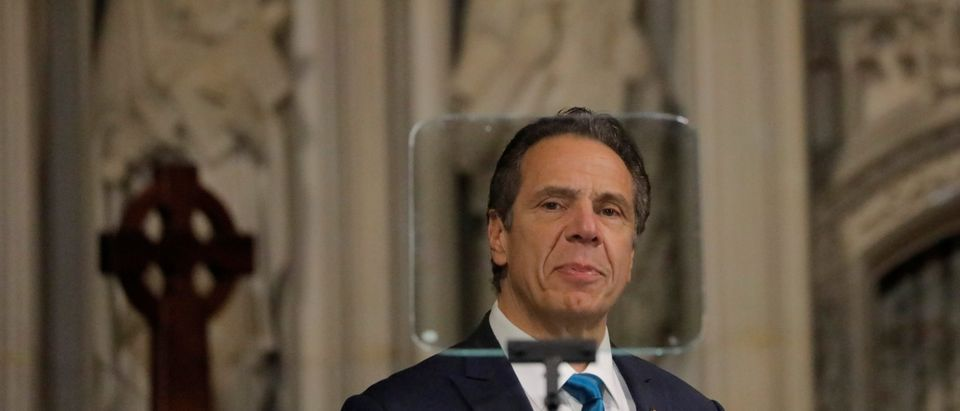 New York Governor Andrew Cuomo delivers remarks on the coronavirus disease