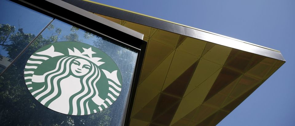 A Starbucks cafe is seen in Los Angeles