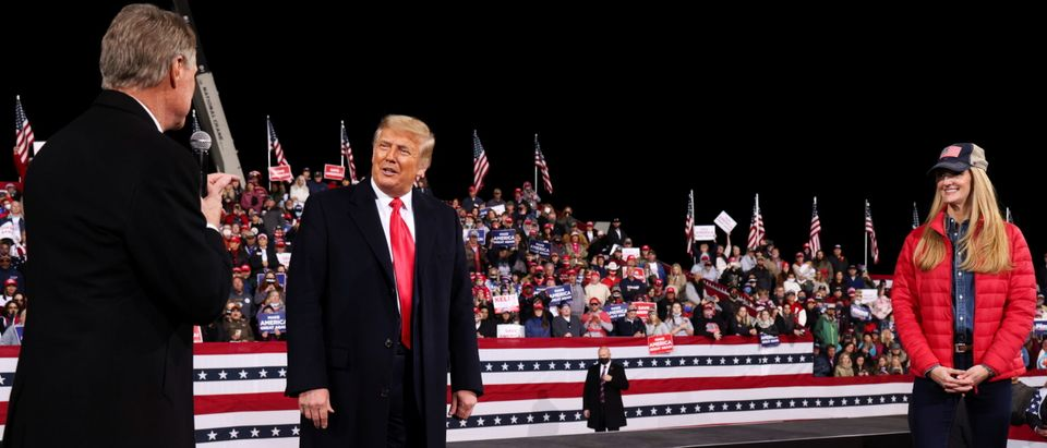 U.S. President Donald Trump campaigns for Republican U.S. senators David Perdue and Kelly Loeffler, in Valdosta, Georgia