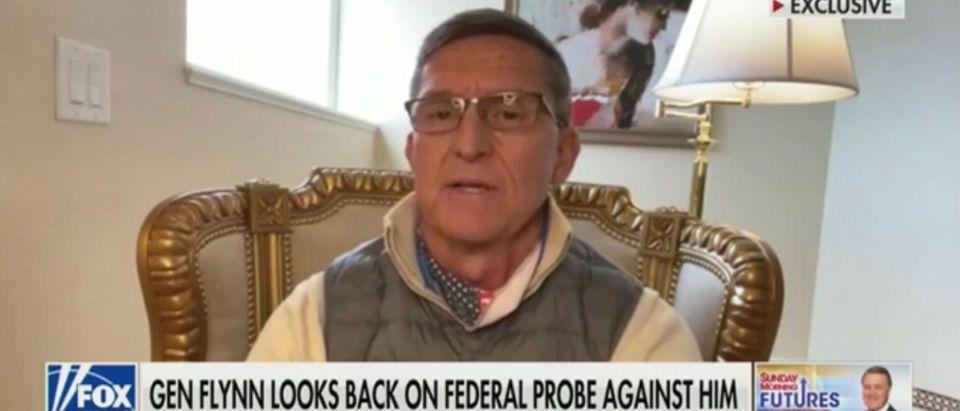 "Former National Security Advisor Gen.Michael Flynn speaks to Fox News' ""Sunday Morning Futures"""