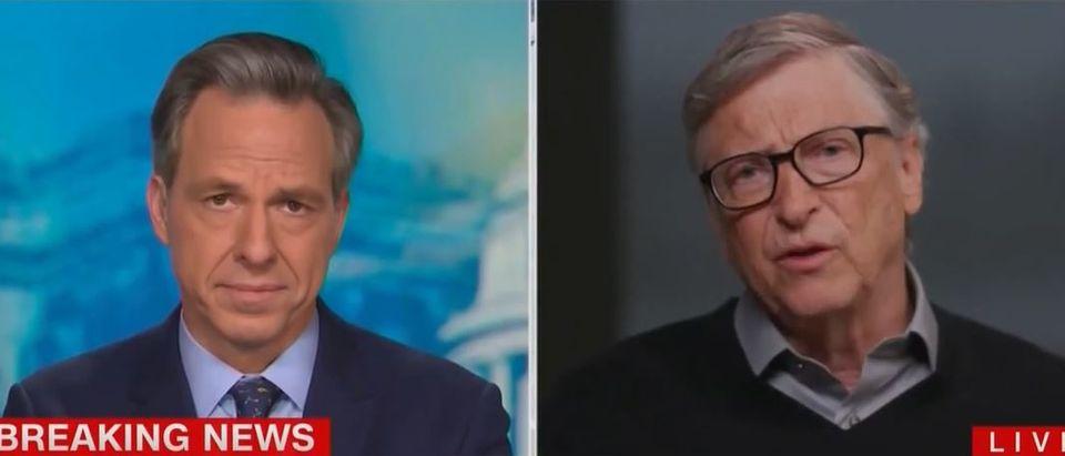 Bill Gates says transition is 'complicating' vaccine distributin (CNN screengrab)