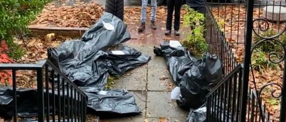 Body Bags At Susan Collins's DC home (Obtained by Daily Caller)