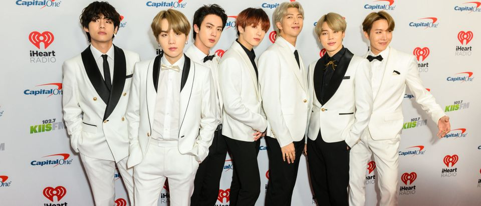 December 6 2019: South Korean boy band BTS arrives for the KIIS FM's iHeartRadio Jingle Ball at the Forum Los Angeles in Inglewood, California. By Silvia Elizabeth Pangaro. Shutterstock.