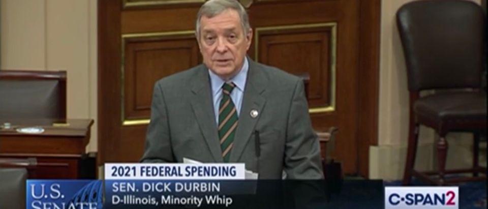 Sen. Dick Durbin (D-IL) on the Senate floor