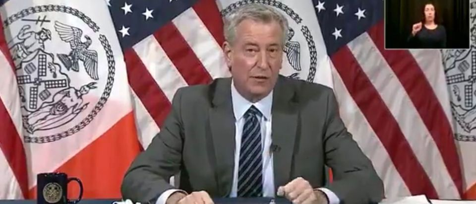 Democratic NYC Mayor Bill de Blasio