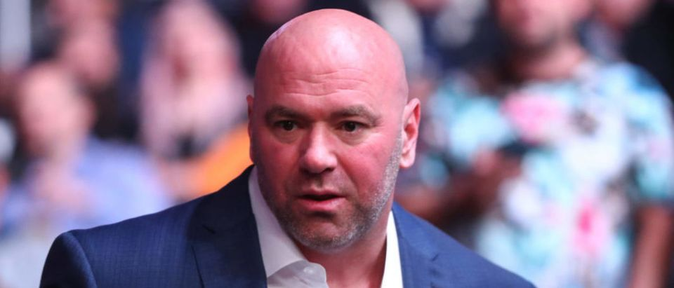 January 18, 2020; Las Vegas, Nevada, USA; UFC president Dana White in attendance during UFC 246 at T-Mobile Arena. Mandatory Credit: Mark J. Rebilas-USA TODAY Sports via Reuters