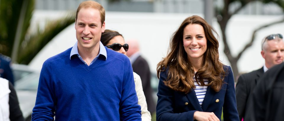 Duke and Duchess of Cambridge (Prince William and Kate Middleton) visit Auckland's Viaduct Harbour during their New Zealand tour on April 11, 2014 in Auckland, New Zealand by Shaun Jeffers. Shutterstock