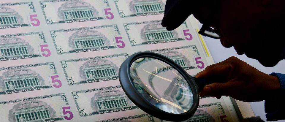 US Currency Inspected After Print
