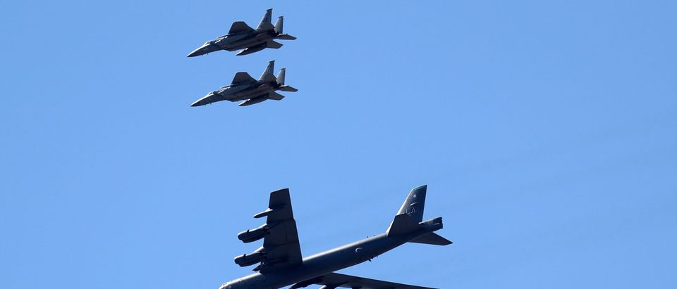 B-52 Bombers Fly Over New Orleans, LA Area As A Salute To First Responders