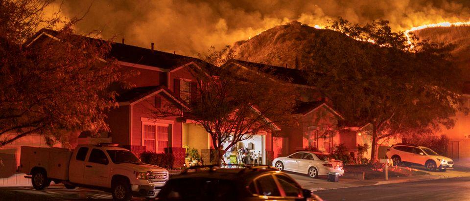Silverado Fire In Orange Country, California Forces Evacuations