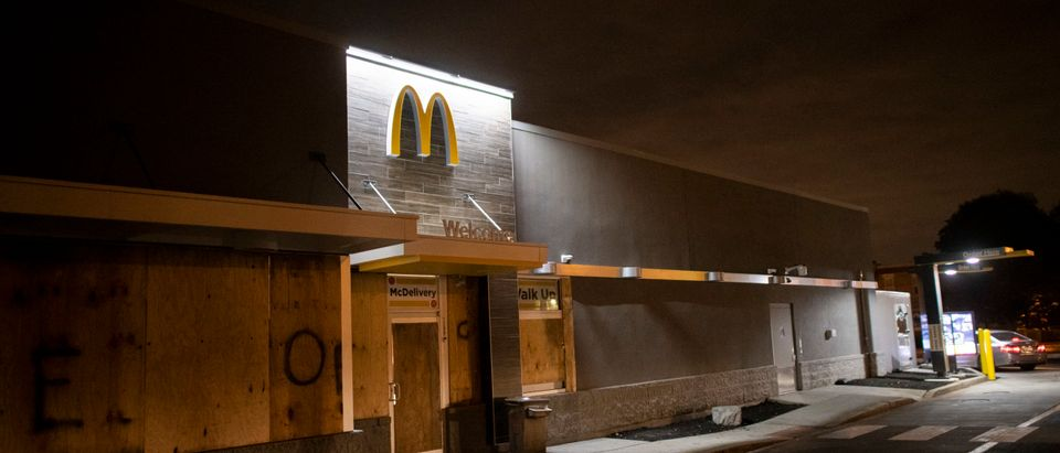 Boarded up McDonalds