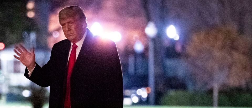 President Trump Arrives Back At The White House After Attending Army v Navy Football Game
