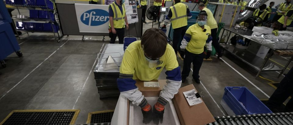 The First Shipments Of The Pfizer And BioNTech COVID-19 Vaccine Are Transported For Shipping