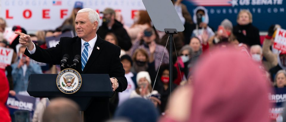 Vice President Pence Campaigns In Georgia For Senate Runoff Election