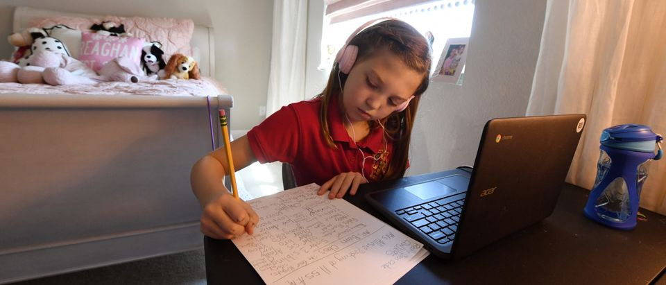 Las Vegas Students And Teachers Conduct Distance Learning As School Year Begins