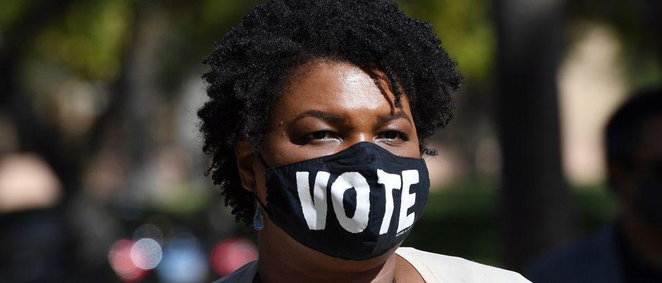 Stacey Abrams Campaigns For Joe Biden In Las Vegas