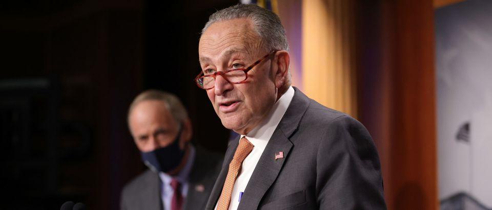 Senate Democratic Leader Sen. Chuck Schumer, Sen. Stabenow, And Sen. Carper Hold News Conference