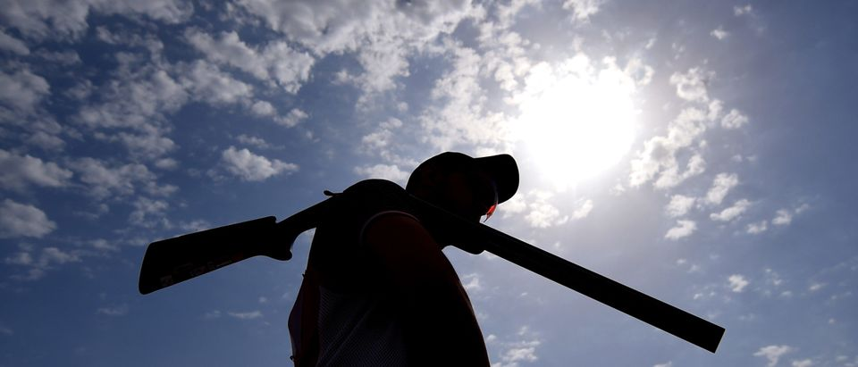 BAKU, AZERBAIJAN - JUNE 16: A competitor awaits his turn to shoot in the Men's Trap Shooting qualification during day four of the Baku 2015 European Games at Baku Shooting Centre on June 16, 2015 in Baku, Azerbaijan. Note: The man in the picture is not the hunter described in the story (Photo by Matthias Hangst/Getty Images for BEGOC)