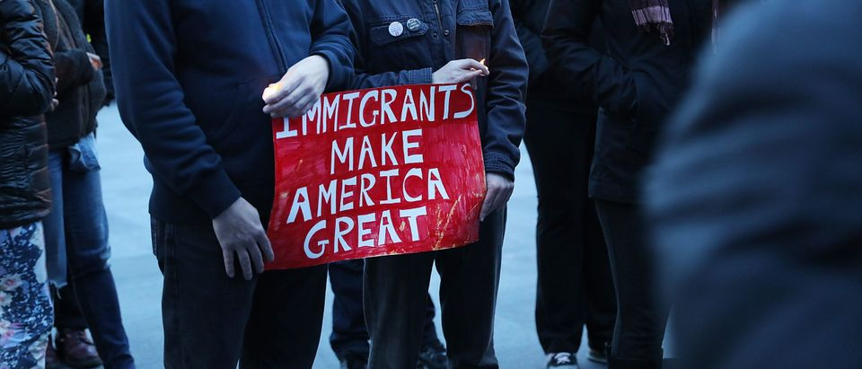 Brooklyn Activists Hold Vigil To Protest Immigration Ban And Border Wall