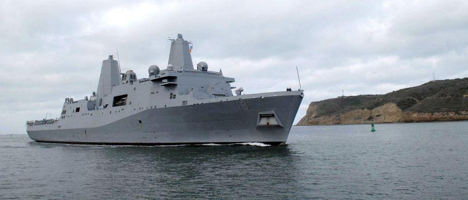 Two U.S. Navy Vessels Collide