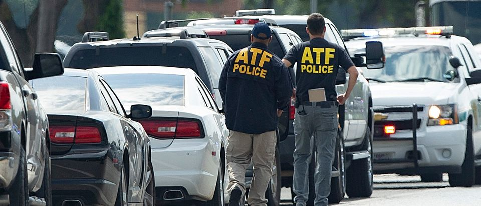 SANTA FE, TX - MAY 18: ATF agents arrive on location at Santa Fe High School where a shooter killed at least 10 students on May 18, 2018 in Santa Fe, Texas. At least 10 people were killed when a gunman opened fire at Santa Fe High school. Police arrested a student suspect and detained a second person. (Bob Levey/Getty Images)