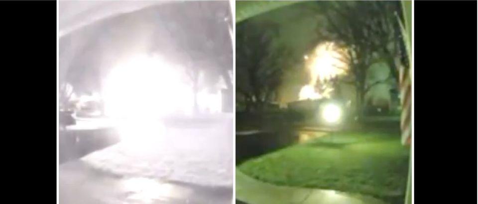 Home Explosion (Credit: Screenshot/Twitter Video https://twitter.com/OldRowViral/status/1337096866555576321)