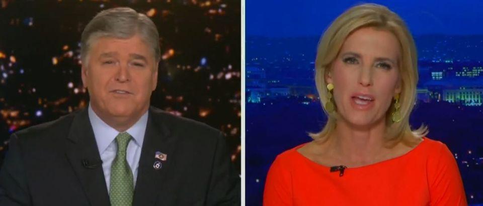 Ingraham, Hannity rip Georgia Democratic Senate candidates (Fox News screengrab)