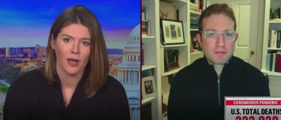 Jake Sherman rips Trump for COVID stimulus drama (MSNBC screengrab))