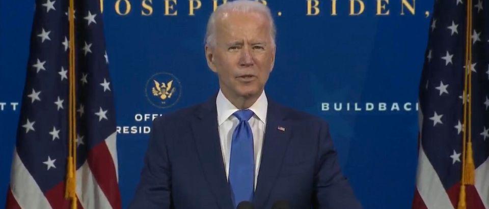 President-Elect Joe Biden introduces his economic team. (Screenshot/YouTube/Fox Business)