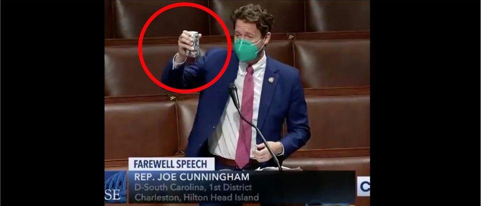 Joe Cunningham (Credit: Screenshot/Twitter Video https://twitter.com/jiveDurkey/status/1339629505586061316)