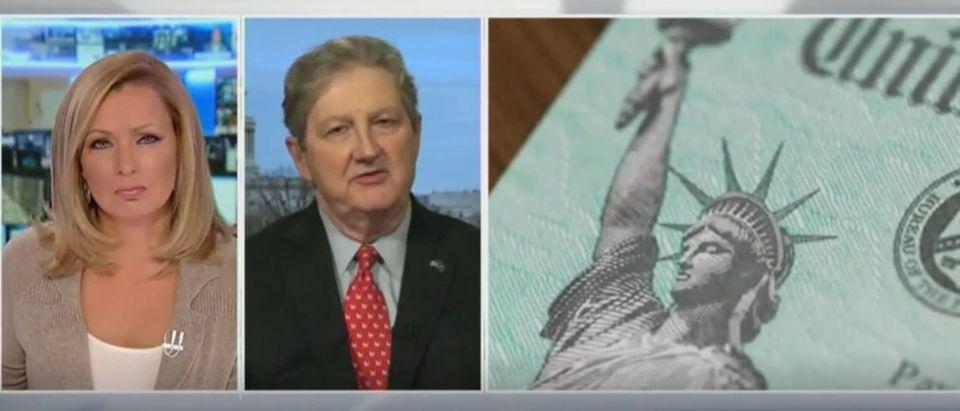 John Kennedy defends stimulus bill (Fox News screengrab)