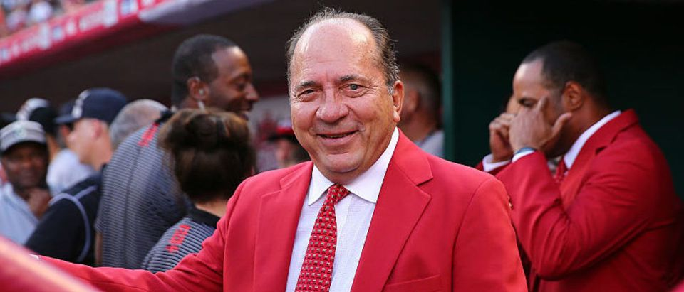 CINCINNATI, OH - JULY 14: Former Cincinnati Reds player Johnny Bench looks on prior to the 86th MLB All-Star Game at the Great American Ball Park on July 14, 2015 in Cincinnati, Ohio. (Photo by Elsa/Getty Images)