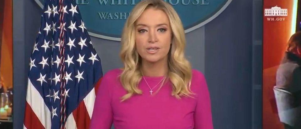 White House Press Secretary KayleighMcEnany. (Screenshot/Youtube/White House)