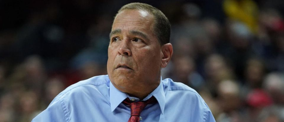 Mar 5, 2020; Storrs, Connecticut, USA; Houston Cougars head coach Kelvin Sampson watches from the sideline as they take on the Connecticut Huskies in the first half at Harry A. Gampel Pavilion. Mandatory Credit: David Butler II-USA TODAY Sports via Reuters