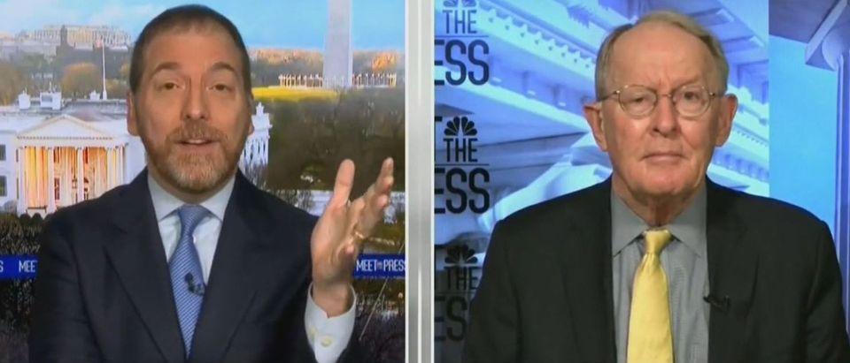 Lamar Alexander spars with Chuck Todd on concession (NBC screengrab)