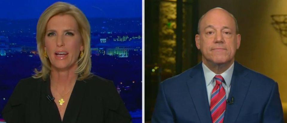 Laura Ingraham defends Bill Barr (Fox News screengrab)