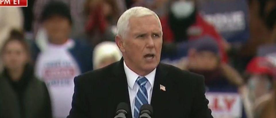 Mike Pence campaigns in Georgia (Fox News screengrab)