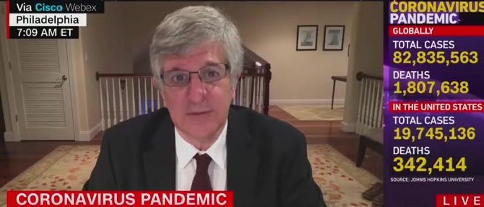 Paul Offitt calls for 'mass vaccination events' (CNN screengrab)