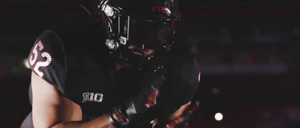 Rutgers Uniforms (Credit: Screenshot/Twitter Video https://twitter.com/RFootball/status/1334648198443438089)