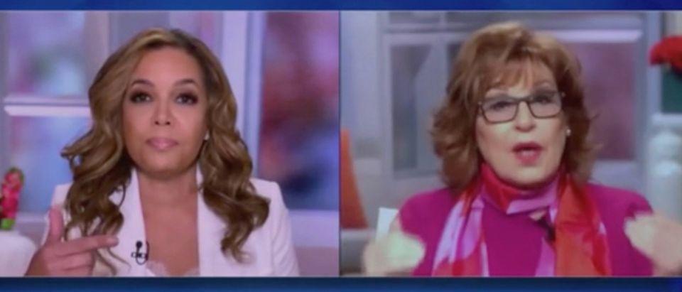 "Sunny Hostin and Joy Behar appear on ""The View."" Screenshot/ABC"