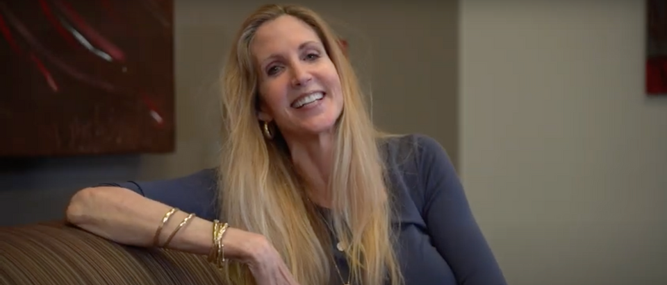 Political commentator Ann Coulter sits down with the Daily Caller to discuss the recent election, President Donald Trump, and the future of the GOP (Screenshot/Daily Caller)