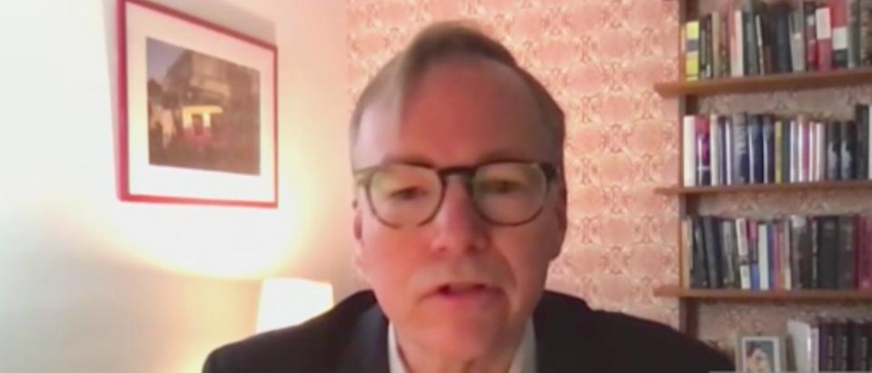 Steve Coll, dean of the Columbia University Graduate School of Journalism, talked about freedom of speech on MSNBC. (Screenshot MSNBC, Morning Joe)