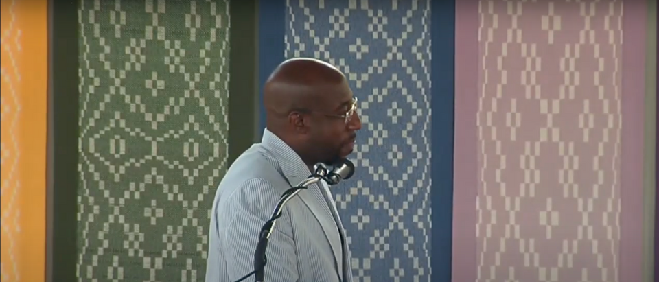 Rev. Raphael Warnock and Democratic candidate for Georgia's senate seat speaks about the Nation of Islam in 2013 (Screenshot/ YouTube Chris Gerard)