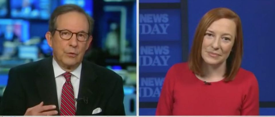"Jen Psaki appears on ""Fox News Sunday."" Screenshot/Fox News"