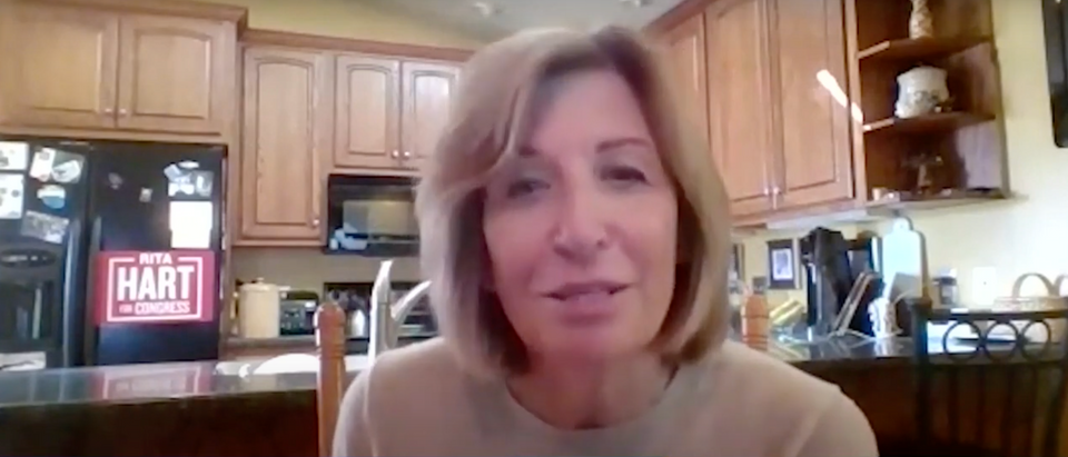 Democratic candidate for Iowa's 2nd Congressional District Rita Hart (Screenshot/ Youtube KCCI)
