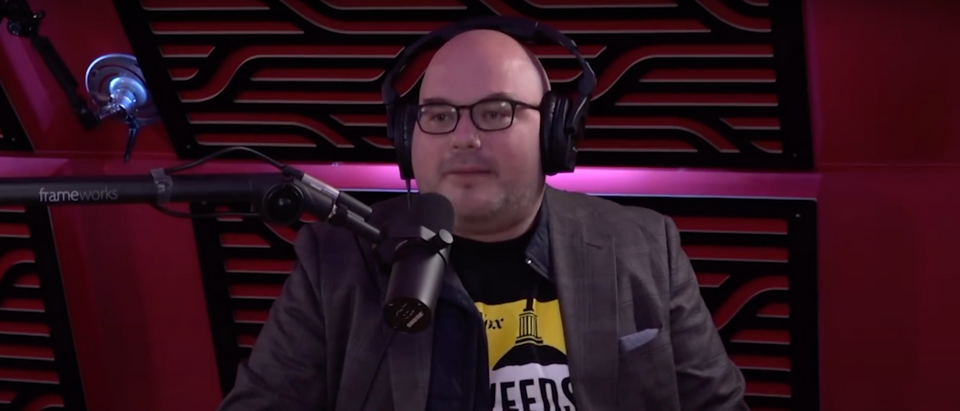 Matthew Yglesias wrote that there was some office controversy at Vox after he suggested writing about the decrease in police killing black people. (Screenshot YouTube PowerfulJRE, https://www.youtube.com/watch?v=o1JUlGSirSE)