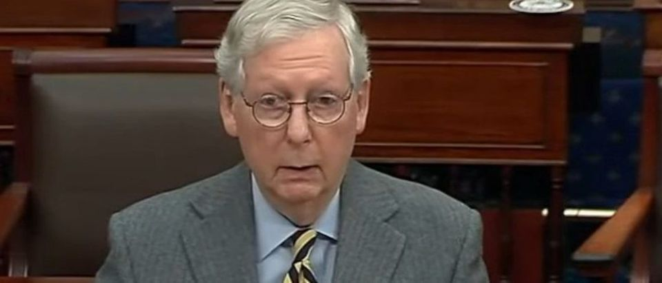 Screen Shot:Youtube:Sen. Mitch McConnell:MCCONNELL on SENATE FLOOR Full Remarks | NewsNOW from FOX