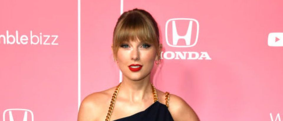 LOS ANGELES, CALIFORNIA - DECEMBER 12: Taylor Swift attends the 2019 Billboard Women In Music at Hollywood Palladium on December 12, 2019 in Los Angeles, California. (Photo by Frazer Harrison/Getty Images)
